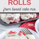 delicious red velvet cake mix cinnamon rolls for breakfast
