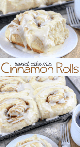 cinnamon rolls made from boxed cake mix