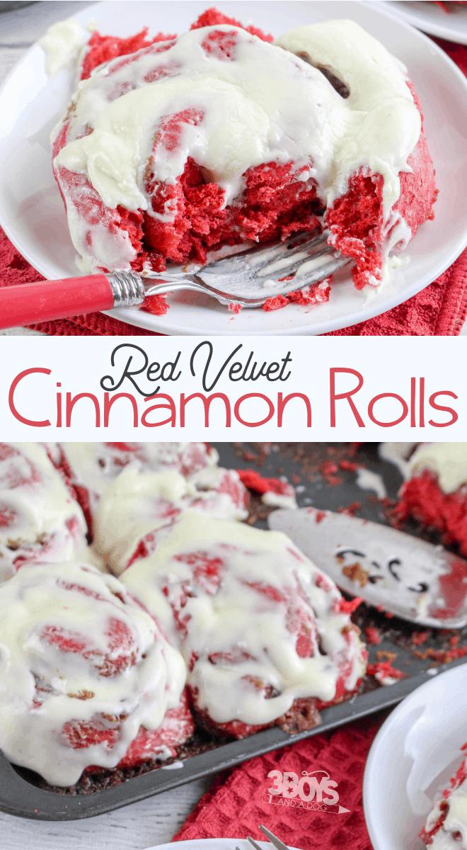 easy Red Velvet Cinnamon Rolls