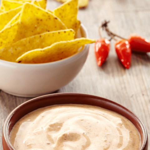 spicy cheesy dip for tortilla chips