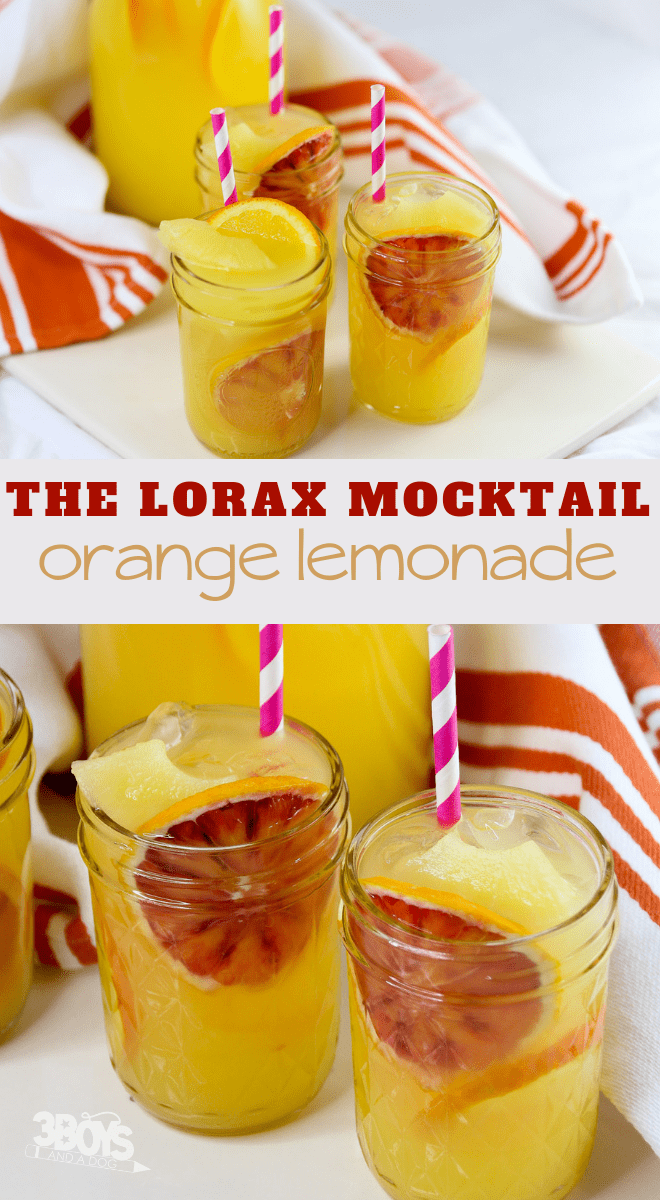 The Lorax Orange Lemonade Mocktail
