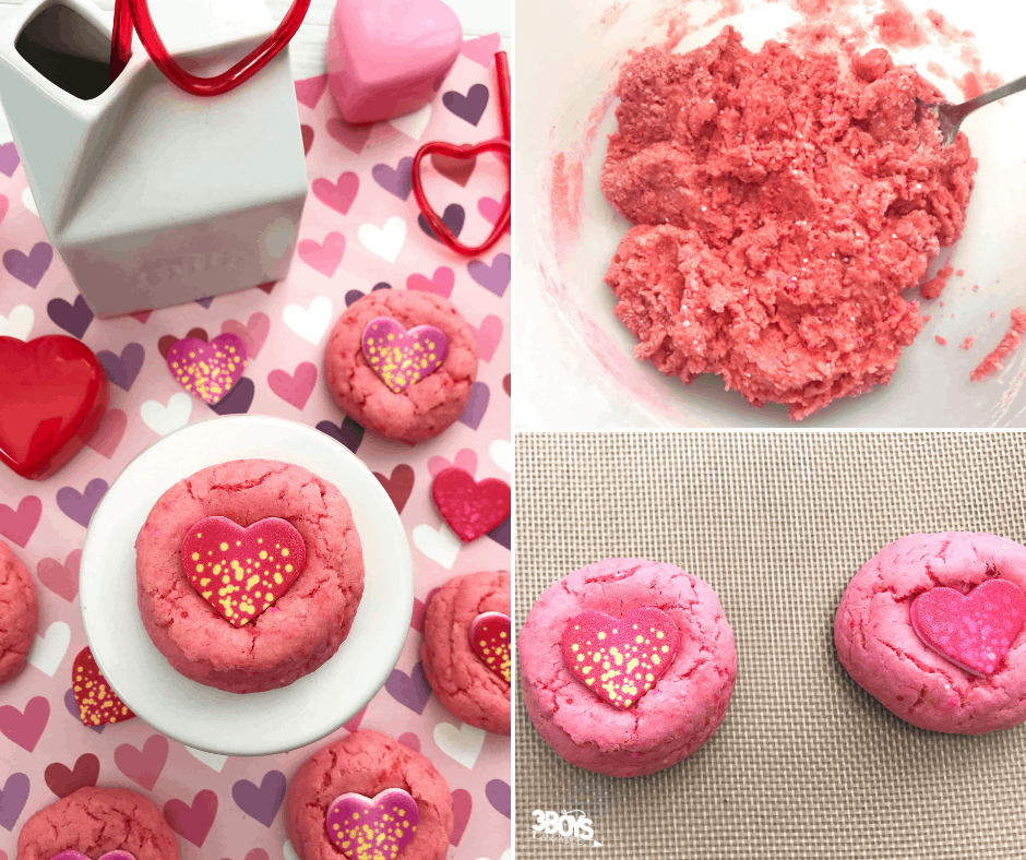 easy valentine cookies made from box cake