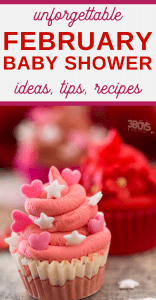 baby shower ideas perfect for February and Valentines Day
