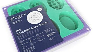 Glogex Silicone Soap Molds, Set of 2, 12 Cavities, Perfect for Soap Making, Baking Molds, and Candy Molds.