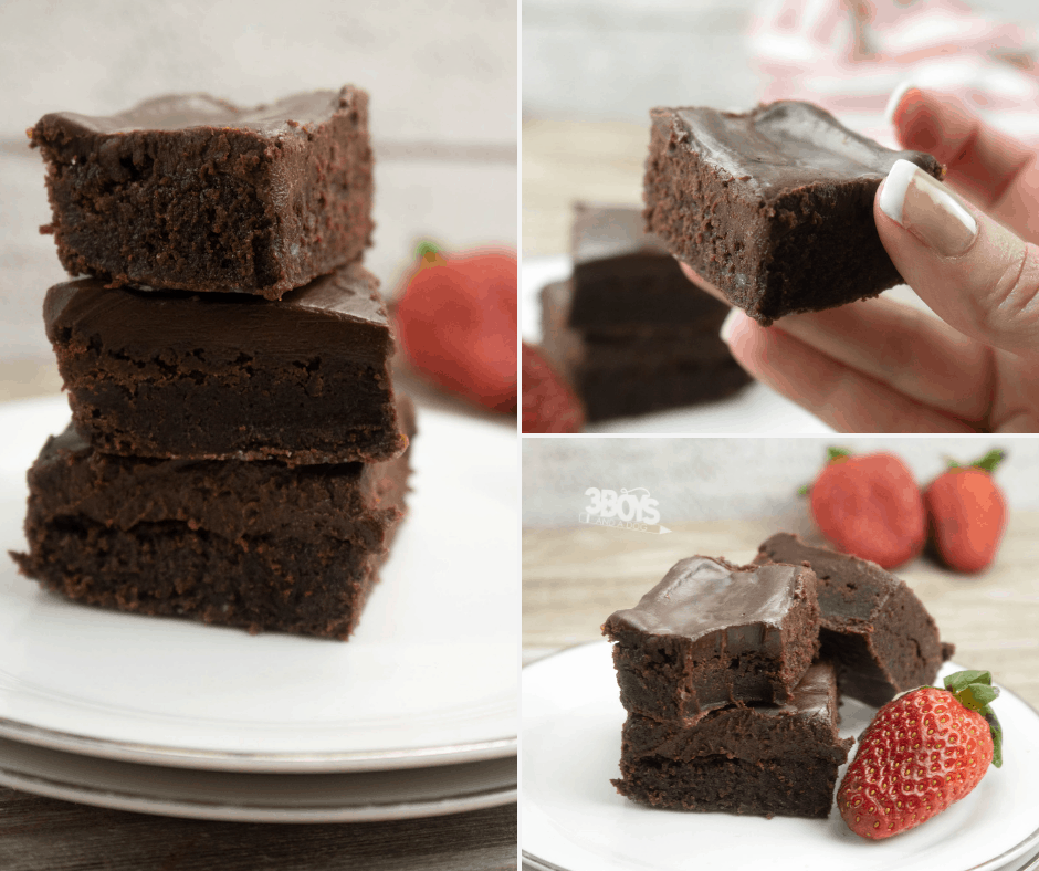 homemade dark chocolate fudge brownies