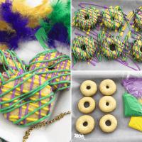 Mardi Gras Cake Mix Donuts