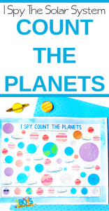 I Spy the Solar System Printable Count the Planets