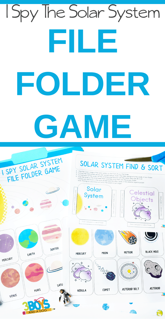 I Spy Solar System File Folder Game PIN