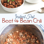 Beef and Bean Chili recipe made in the instant pot