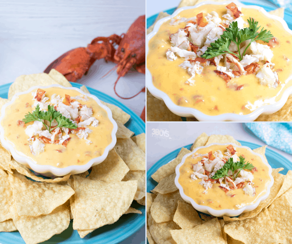 easy and delicious party dip recipe Lobster RoTel Velveeta