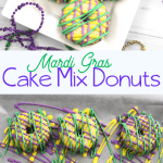 Mardi Gras Boxed Caked Mix Donuts Recipe