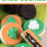 saint patricks day candy coated oreo cookies