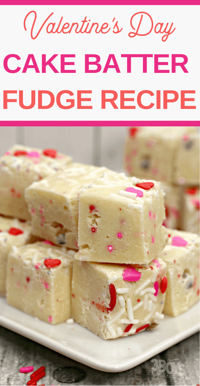 Make your own Valentine's Day fudge from cake mix