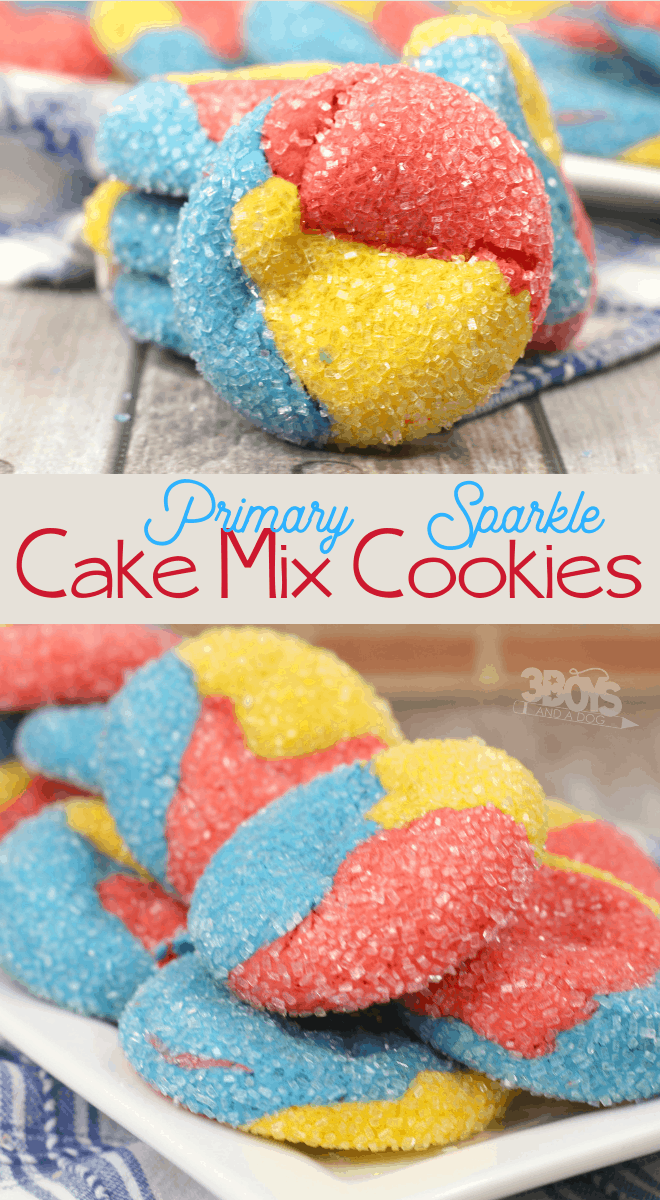 primary sparkle cake mix cookies recipe