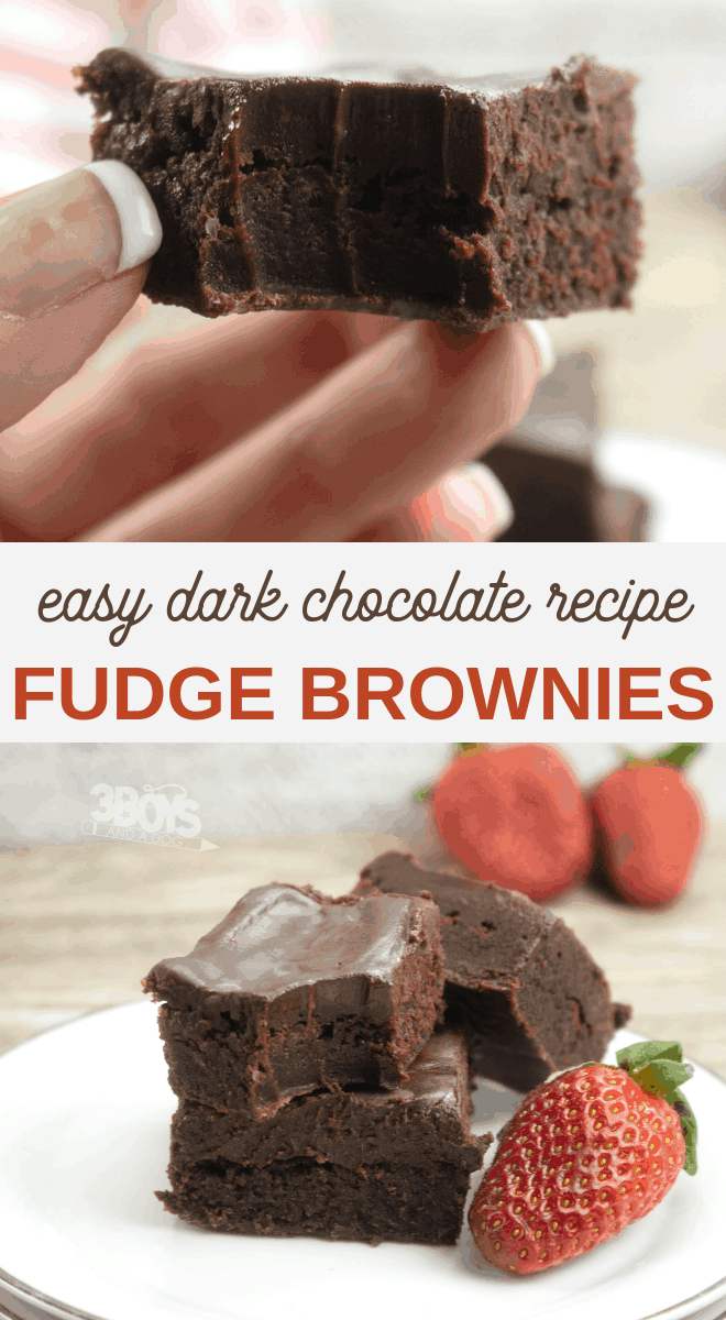 homemade dark chocolate fudge brownies