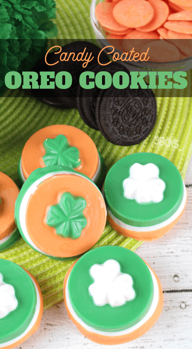 St Paddys candy coated oreo cookies