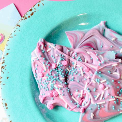 pink purple teal candy bark recipe