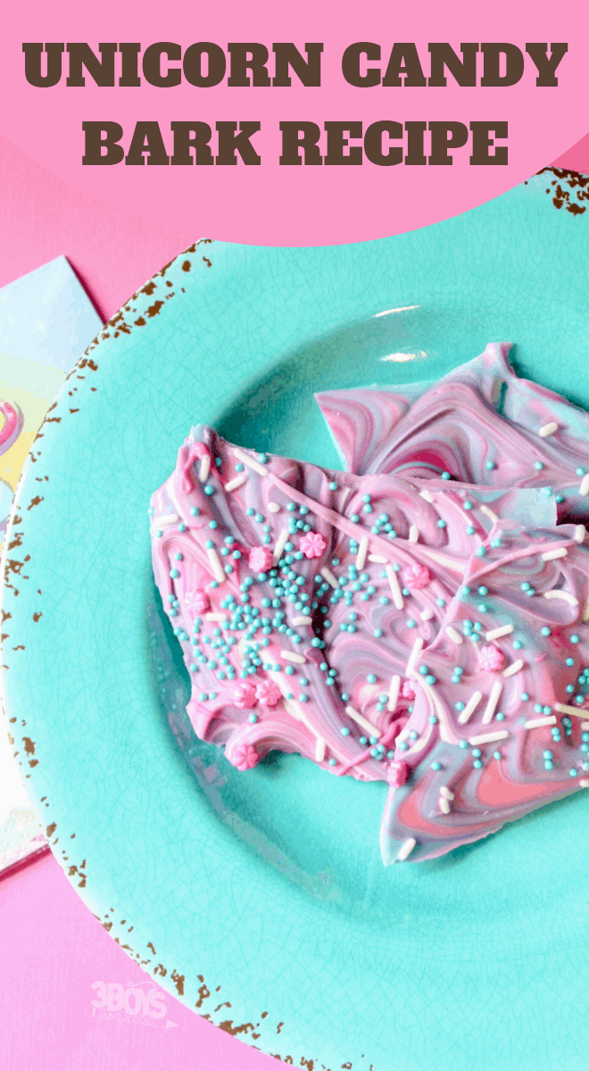 pink purple teal candy bark recipe