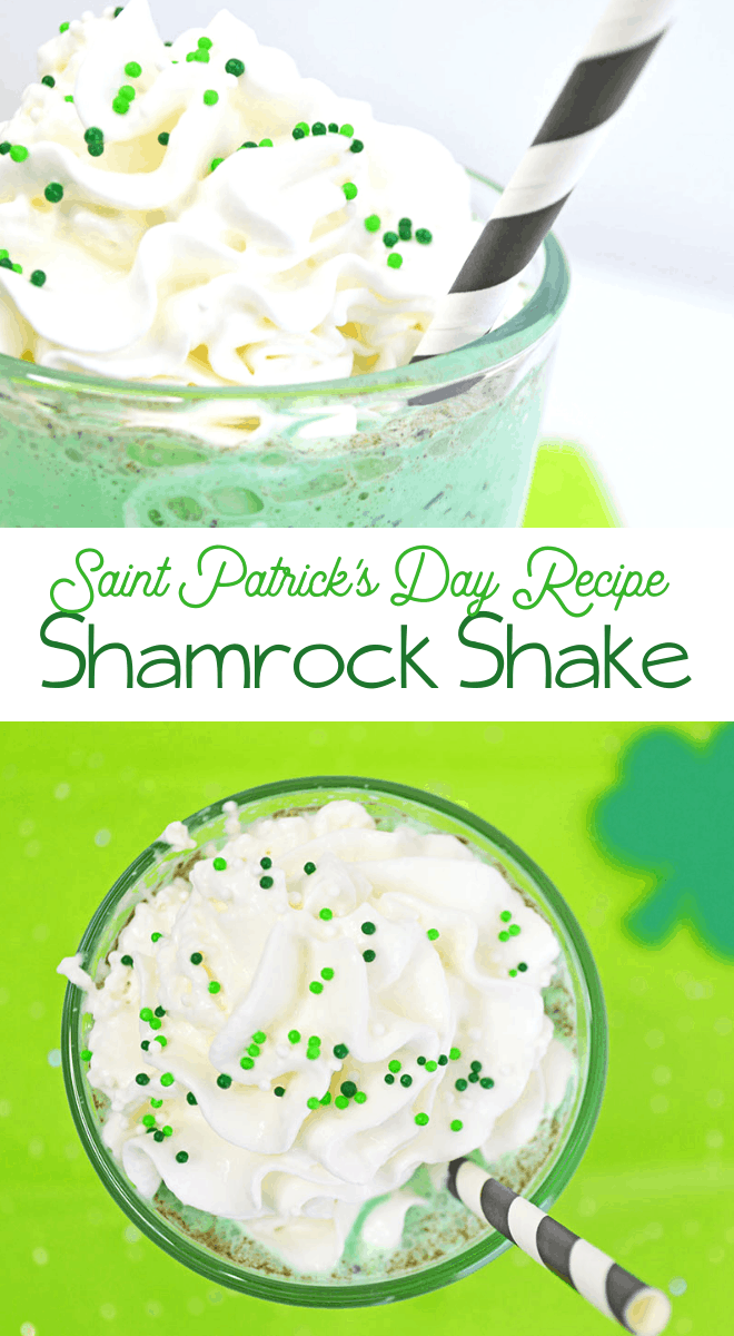 saint patricks day mint green shake recipe