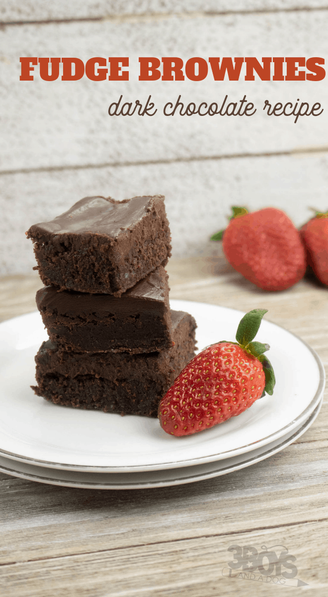 best ever homemade brownies with delicious dark chocolate fudge