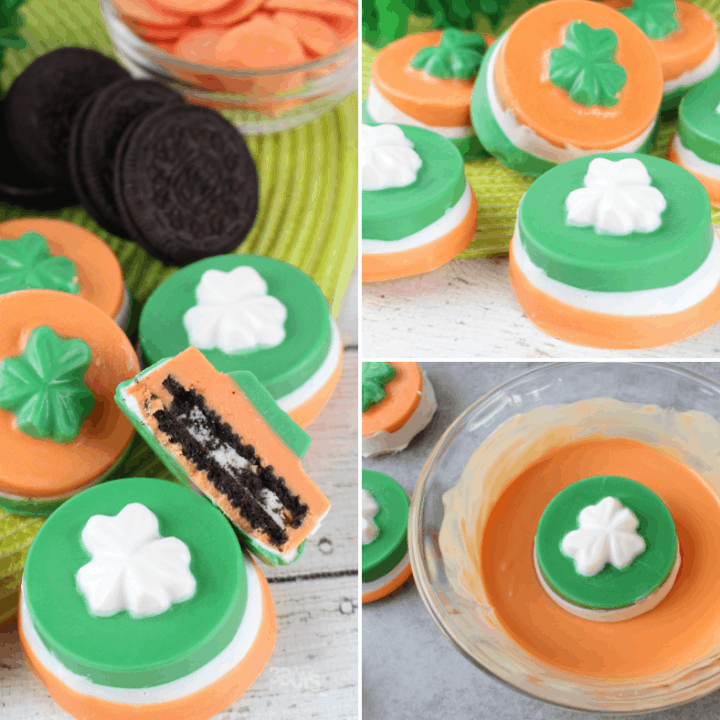 candy coated oreo cookies