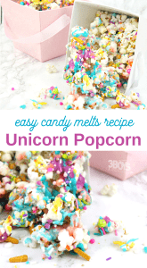 candy melts Unicorn popcorn recipe