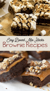 so many recipe ideas from a box of brownie mix