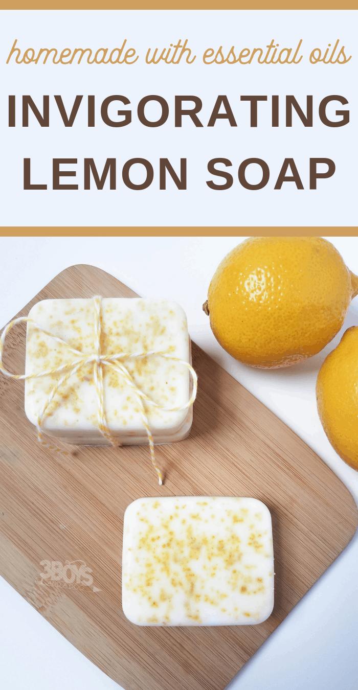 lemon zest soap homemade using essential oils