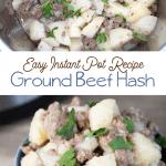 instapot ground beef potato hash recipe