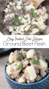 instapot ground beef potato hash recipe