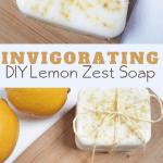 homemade using essential oils invigorating lemon soap