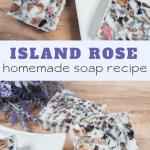 coconut rose soap homemade using essential oils
