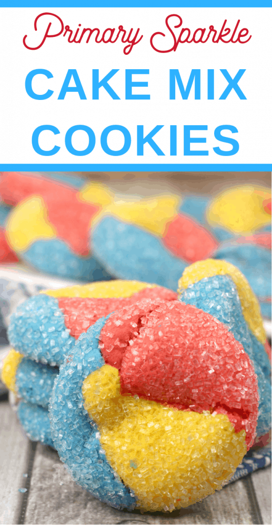 primary colors boxed cake mix cookies