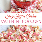 easy popcorn from valentine's sugar cookies