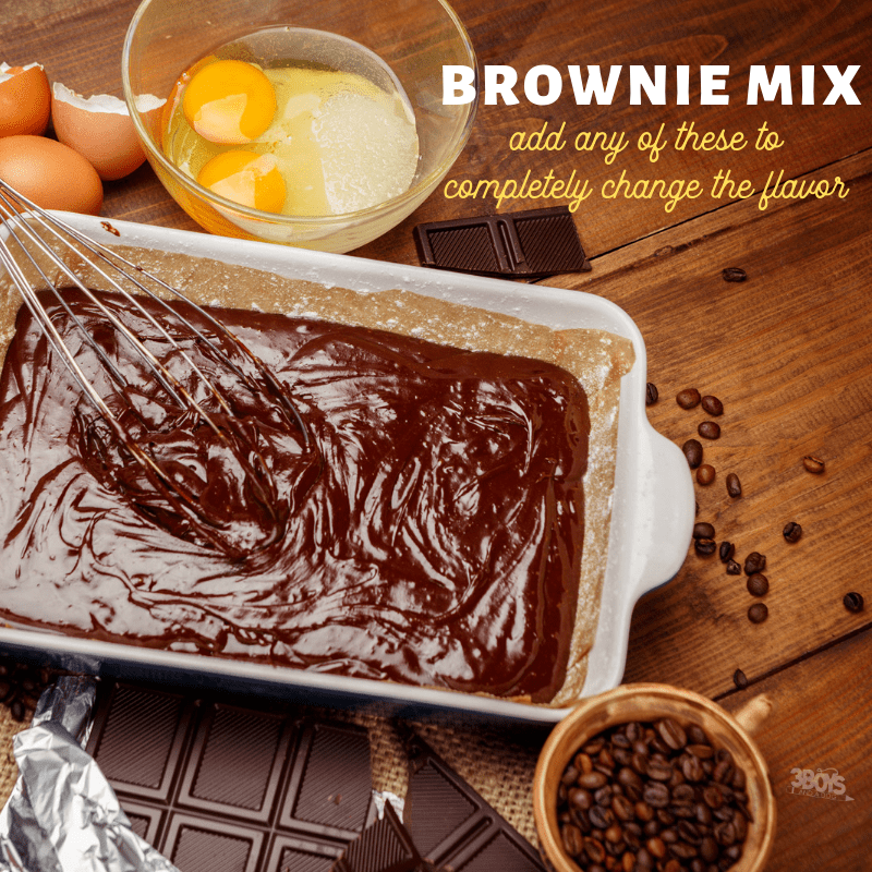easy brownie mix in ideas