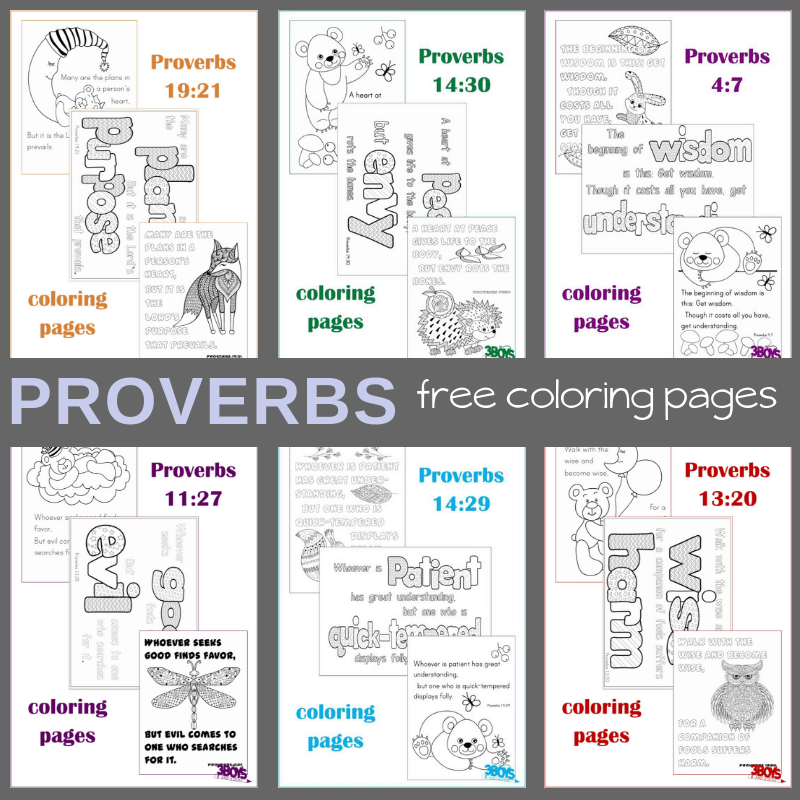 Proverbs Free Coloring Pages