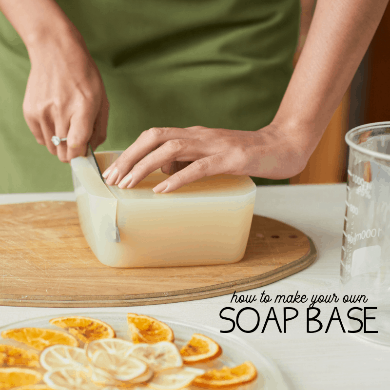 learn four ways to make a soap base at home