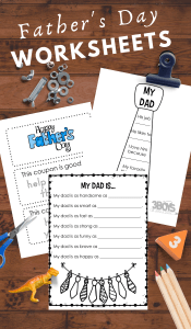 Worksheets for preschoolers to celebrate and learn about fathers day