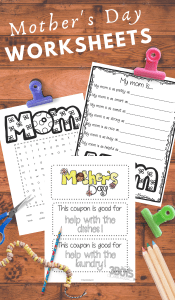 Worksheets for preschoolers to celebrate and learn about mothers day