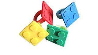 Building Block Brick Party Favor Rings