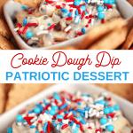 irresistible Patriotic cookie dough dip recipe