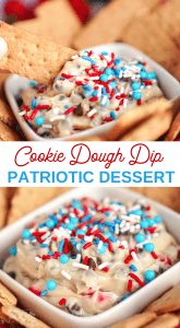 irresistible Patriotic cookie dough dip recipe