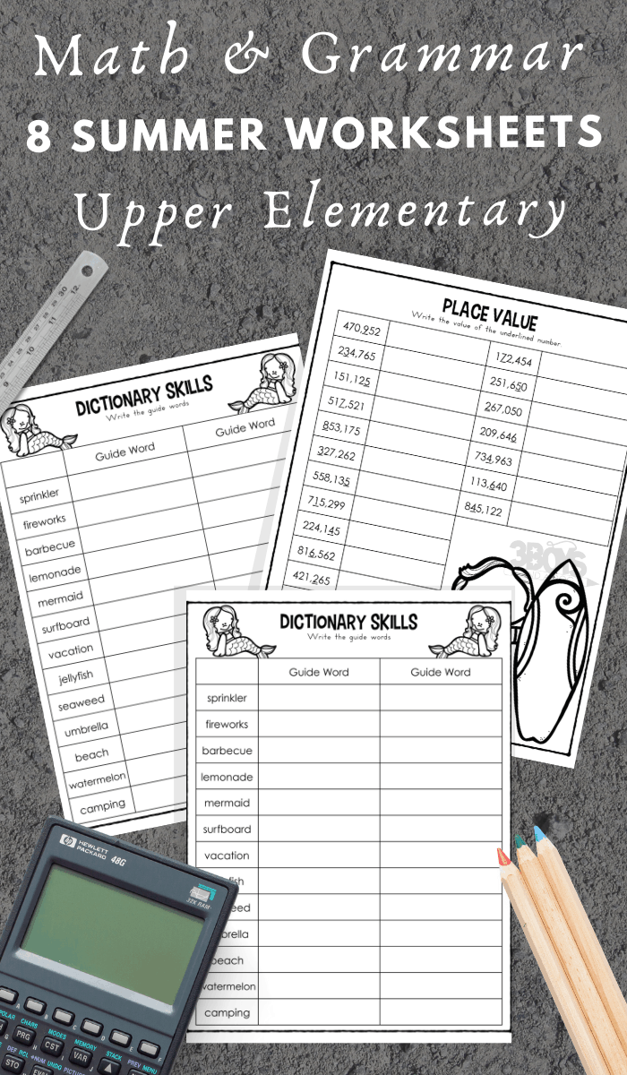 fun summer themed worksheets for Upper Elementary Kids (1)