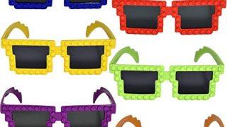 12 Pack Colorful Building Block Brick Glasses