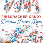 July 4th Candy Coated Pretzel Sticks
