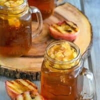 Grilled Peach Infused Sweet Iced Tea