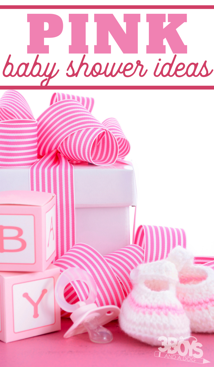 baby shower ideas in a pink theme