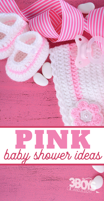 baby girl themed baby shower ideas in pink