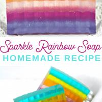 Sparkle Rainbow Layered Soap