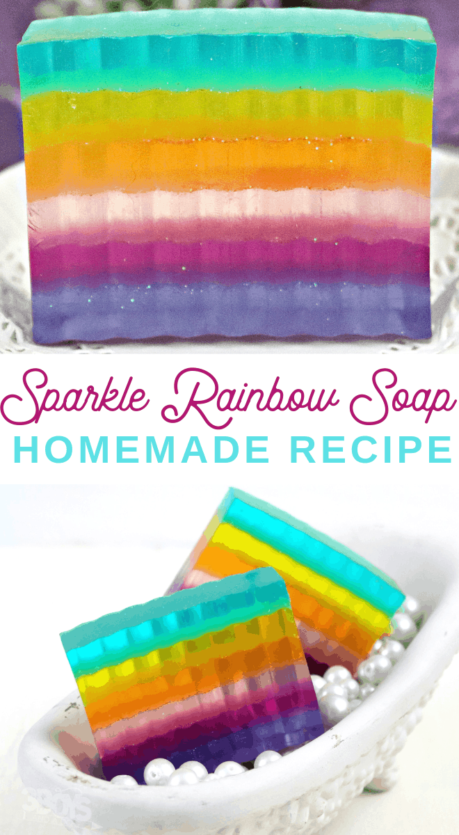 homemade rainbow soap